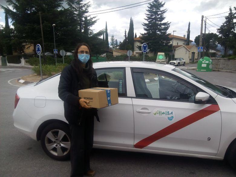 Coronavirus – Para los taxistas de Radio Taxi Collado Villalba la solidaridad no tiene precio